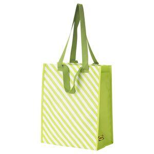 VÅRKÄNSLA                                Tasche, grün gestreift, 30x38 cm