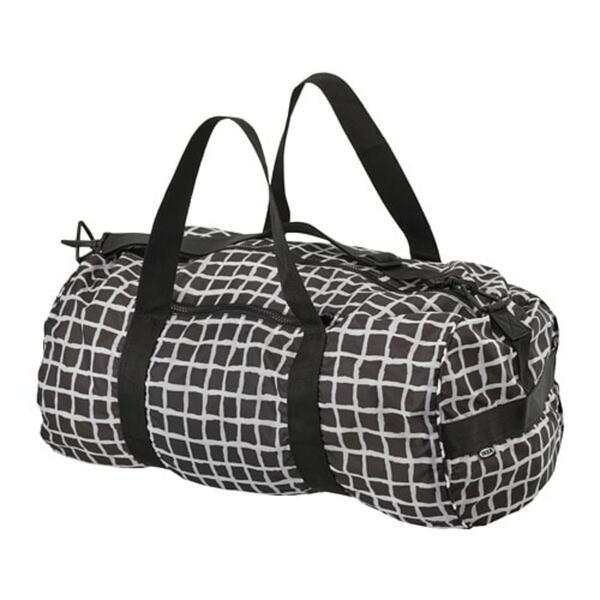 KNALLA                                Sporttasche, schwarz, weiß