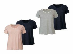 ESMARA® 2 Damen Leinen-Shirts