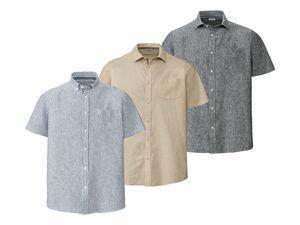 LIVERGY® Herren Leinen-Freizeithemd