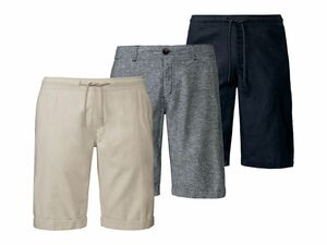 LIVERGY® Herren Leinen-Shorts