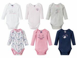 6 Baby Mädchen Bodys