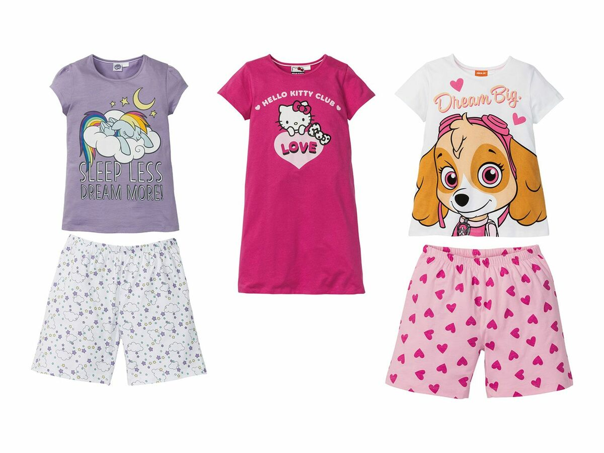 Bild 1 von Kinder/ Kleinkinder Mädchen Sommerpyjama / Nachthemd