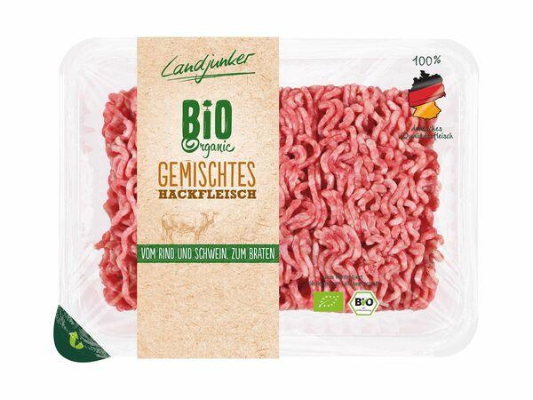 Frisches Bio-Hackfleisch, gemischt