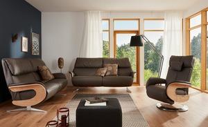 Leder-Sofa 3-sitzig Elin