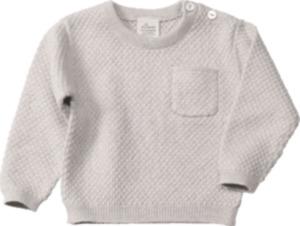 ALANA Baby-Pullover, Gr. 62, in Bio-Baumwolle und Seide, grau, für Mädchen und Jungen