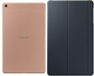 Samsung Galaxy Tab A 10.1 WiFi (2019) Tablet gold inkl. Book Cover