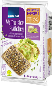 EDEKA Weltmeister Brötchen glutenfrei 4x 60 g