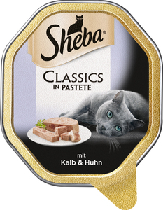 Sheba Classics in Pastete mit Kalb & Huhn Katzenfutter nass 85 g