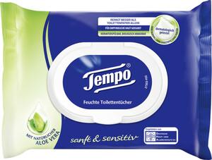 Tempo sanft & sensitiv feuchte Toilettentücher mit Aloe Vera 42 Tücher
