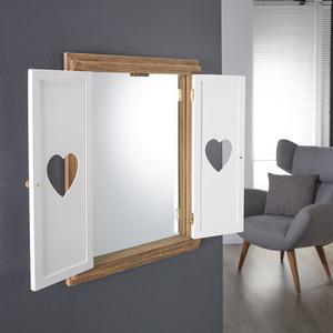 Spiegel mit Flügeltüren (Two-Tone, Herzen)
