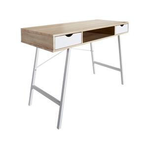 Schreibtisch Bryrup (76x120, 2 Schubladen, retro)