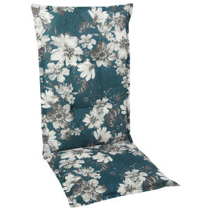 XXXL SESSELAUFLAGE Blume, Weiß, Blau