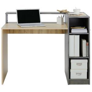 Schreibtisch Grau/Eichefarben