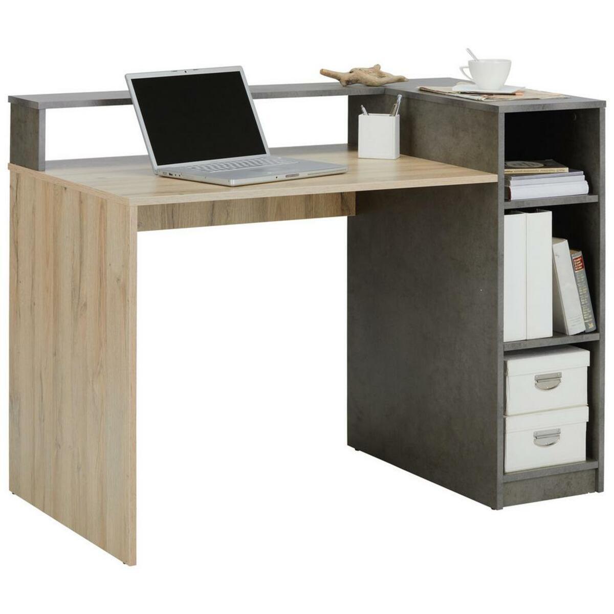 Bild 2 von Schreibtisch Grau/Eichefarben