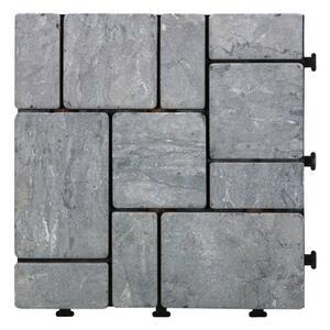 Terrassenfliese Stone in Grau