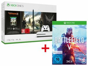 Microsoft Xbox One S 1TB Tom Clancy's: The Division 2 Bundle + ELECTRONIC ARTS BATTLEFIELD V (XBOX ONE)