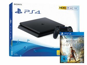 SONY Playstation 4 Slim - 1TB schwarz + Assassin's Creed Odyssey (PlayStation 4)
