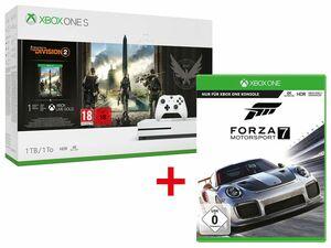 Microsoft Xbox One S 1TB Tom Clancy's: The Division 2 Bundle + MICROSOFT FORZA MOTORSPORT 7 - STANDARD EDITION (XBOX ONE)
