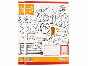 UNITED OFFICE® 5 Schulhefte DIN A4