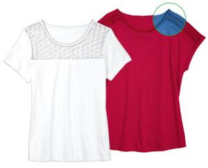 blue motion+ Shirt mit Spitze, große Mode