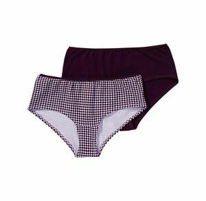 bo_dy Damen-Panty mit trendigem Muster, 2er Pack