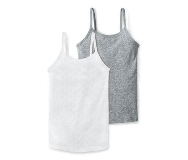 2 Unterhemden in Ajour-Optik