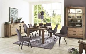 Habufa - Stuhlgruppe Scott/Canova aus Eiche Railway brown