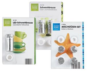 EASY HOME®  Mischdüsen-Set, Schwenkbrause oder LED-Schwenkbrause