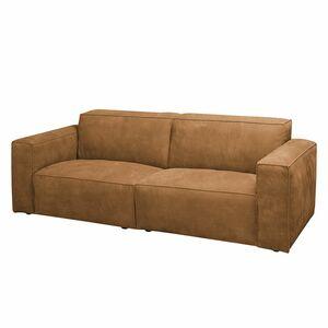 home24 Sofa Manchester (3-Sitzer) Echtleder