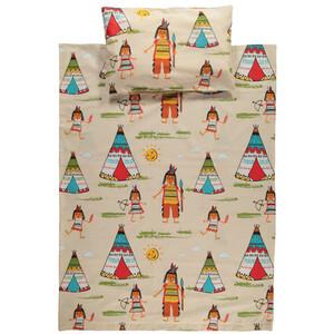 Kinder Bettwäsche mit Indianermotiv, 100x135cm