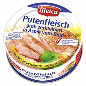 Meica Eisbeinfleisch ohne Schwarte oder Putenfleisch in Aspik vom Rind jede 200-g-Dose