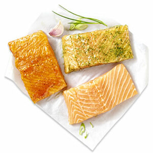 Lachsfilet  natur oder grillfertig mariniert aus Aquakultur, Nordostatlantik, je 100 g