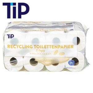 Recycling Toilettenpapier 16 x 200 Blatt, 2-lagig, jede Packung
