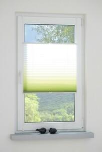 Bella Casa Klemmfix-Plissee, 90 x 130 cm, Grün-Weiß
