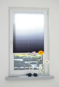 Bella Casa Klemmfix-Plissee, 80 x 130 cm, Grau-Weiß