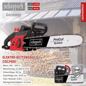 Scheppach Elektro Kettensäge CSE2400