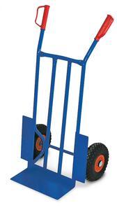BRB Stahl-Sackkarre, mit pannensicheren Rädern, blau