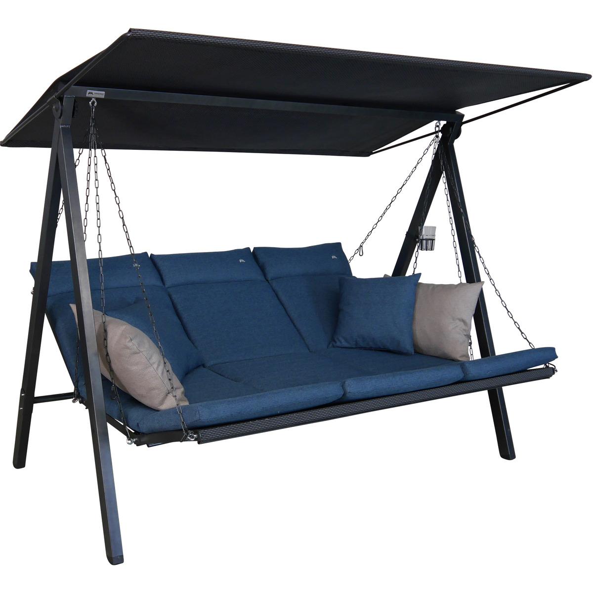 Bild 1 von Angerer Freizeitmöbel Hollywoodschaukel 'Lounge Smart' 3-Sitzer denim