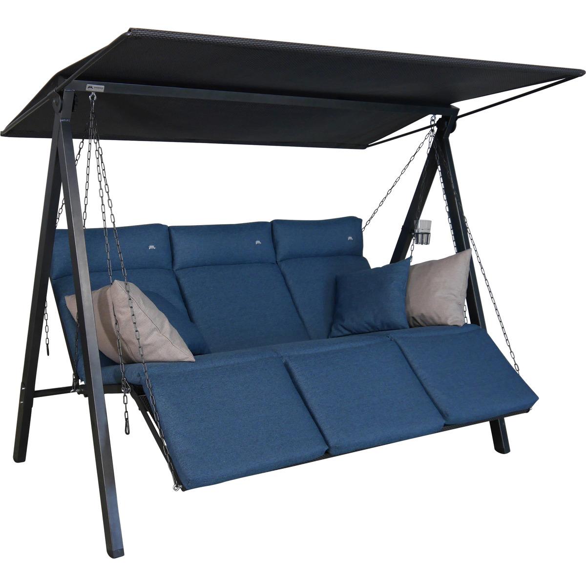 Bild 2 von Angerer Freizeitmöbel Hollywoodschaukel 'Lounge Smart' 3-Sitzer denim