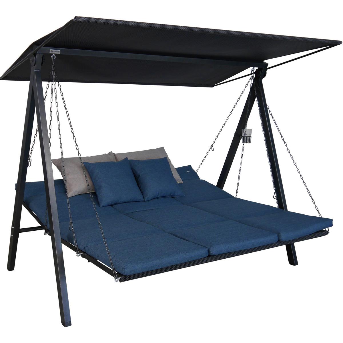 Bild 3 von Angerer Freizeitmöbel Hollywoodschaukel 'Lounge Smart' 3-Sitzer denim