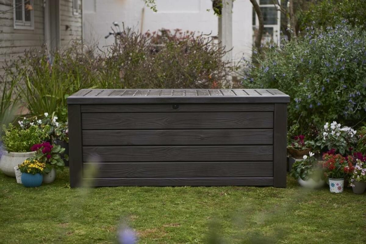 Bild 3 von Keter Universalbox Westwood Box 570 Liter, ca. B 155 x T 72,4 x H 64,4 cm, Farbe: Braun; 6054