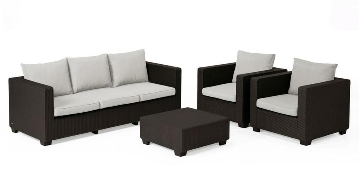Bild 3 von Salta Lounge 3-Sitzer-Sofa Braun