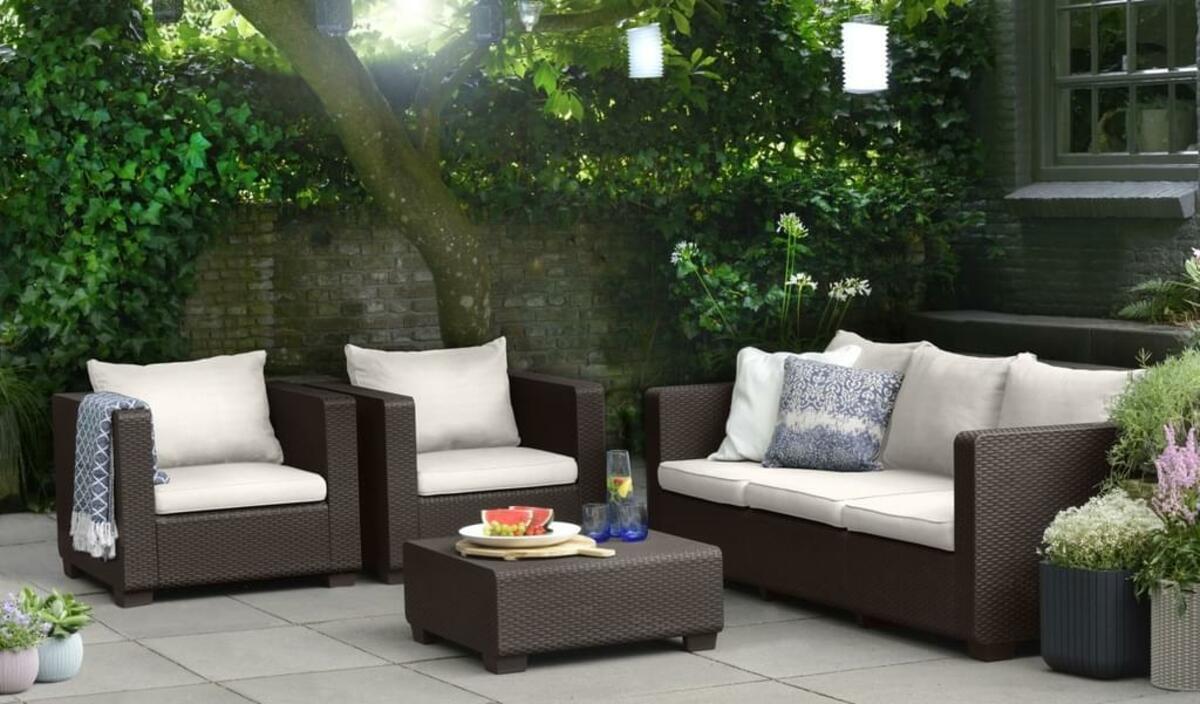 Bild 4 von Salta Lounge 3-Sitzer-Sofa Braun