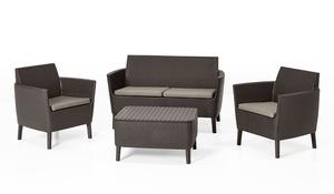 Salemo 2-Sitzer Lounge-Set Braun