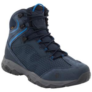 Jack Wolfskin Wasserdichte Männer Wanderschuhe Rock Hunter Texapore Mid Men 47 blau