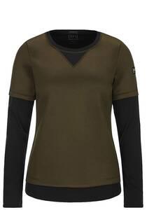 SUPER.NATURAL Mountain Double Layer - Sweatshirt für Damen - Braun