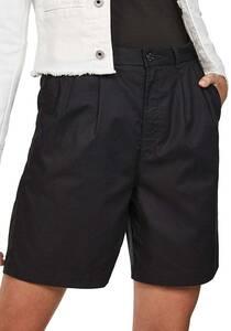 G-STAR RAW Bronson High Loose Pleat Berumuda - Chino Shorts für Damen - Schwarz