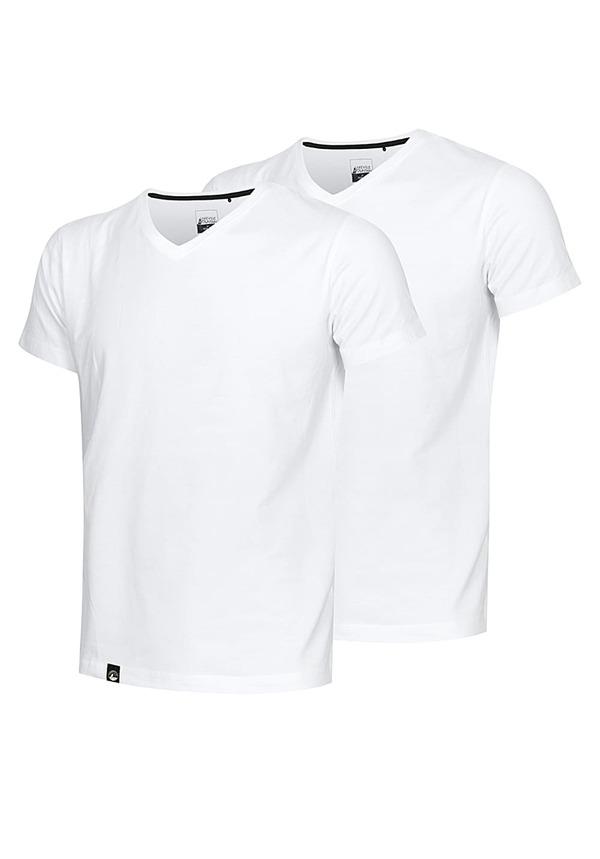 Lakeville Mountain V Neck Double Pack - T-Shirt für Herren - Weiß