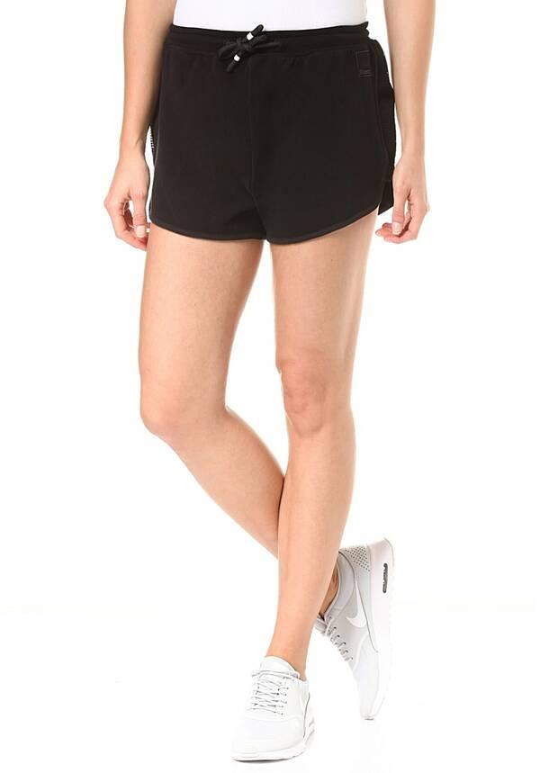Bench. Sweat Pants Mesh Insert - Shorts für Damen - Schwarz